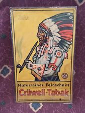 Antique Vintage Cruwell-Tabac German Tobacco Counter Display American Indian