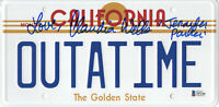 CLAUDIA WELLS SIGNED AUTO BACK TO THE FUTURE LICENSE PLATE BECKETT BAS COA 6