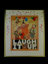 "Vintage 1983 Mary Engelbreit 12""x 14"" Framed Print ""Laugh It Up"" (816)"