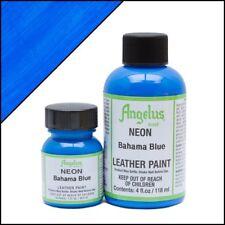 Angelus Neon Bahama Blue leather paint 1 oz.