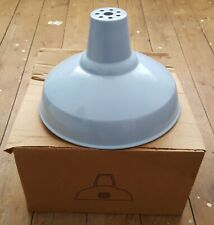Vintage Industrial Coolicon Enamel Shade Retro Pale Blue Boxed New