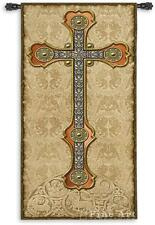 60x26 Gothic CROSS Medieval Vertical Tapestry Wall Hanging