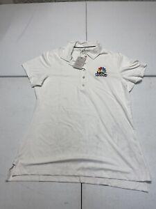 Women's Peter Millar Medinah NBC Sports SS Golf Polo Polyester Size Medium BinL