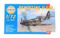 SMER Modellbau Kunststoff Modellbausatz Militär 1:72 Flugzeug Dewoitine D520