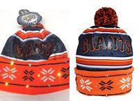 MLB San Francisco Giants Word Mark Light Up Printed Pom Beanie Winter