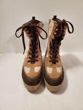 Rouge Helium Women's Boots Size 10/40 Brown/Biege/Tan