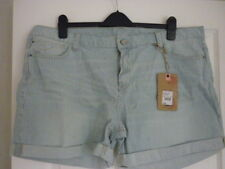 Womens Denim Shorts Cotton Ladies Ex Designer Casual Regular Turned Up