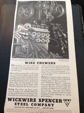 N1-6 Ephemera 1940s Ww2 Advert Wickwire Spencer Steel Company New York