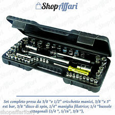Set Kit Di Chiavi A Bussola Cricchetto Cric Con Valigetta 52 Pz. valigetta