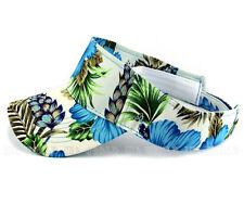 Visor Sun cap hat Hawaiian Blue Flower Curved bill Golf Tennis Outdoor Strapback