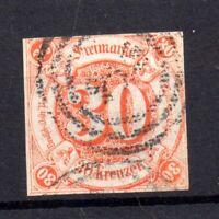 Thurn & Taxis 1859 30kr orange fine used MI #25 WS19683