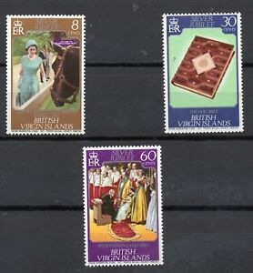 BRITISH VIRGIN ISLANDS STAMPS 1977 SILVER JUBILEE SG364/66 MINT NEVER HINGED