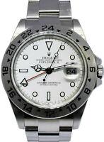 Rolex Explorer II Steel White Dial Mens 40mm Automatic Watch/Box Z 16570