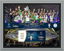 CHAMPIONS LEAGUE FINALE 2017 BIGLIETTO Display Frame REAL MADRID v JUVENTUS