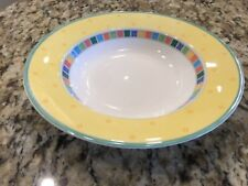 Villeroy and Boch Twist Alea Limone rim soup bowl great condition 9 1/2 in