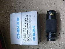 CHINAR Macro Zoom 80-200 F4.5 MINOLTA LENS w/Tiffen 52mm SKY 1-A Filter lens cap