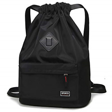 Drawstring Bag Waterproof Sport Gym Backpack for Men and Women String Sackpack