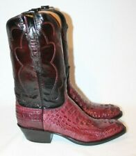 NWB Alligator Lucchese Cowboy Boots SIZE 10 D - $1699 MSRP - PURPLISH & BLACK