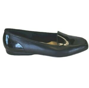 Enzo Angiolini Liberty Womens Black Leather Flat Loafers Size 8.5
