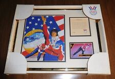 1994 Bonnie Blair USA Gold Medal Olympic Speed Skater Framed Litho Print Picture