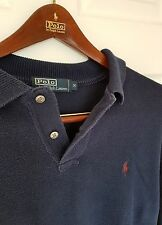 Mens RALPH LAUREN two button collared long sleeve polo. Size medium. RRP £110