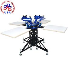 4 Color 4 Station Screen Kit Printer Screen  Printing Machine Press Equipment