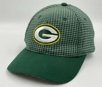 Rare Vintage 90's Green Bay Packers NFL Logo 7 Snapback Hat Checker Print Plaid