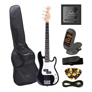 Artist MiniP 3/4 Size Electric Bass Guitar + Accessories