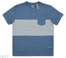 *NEW* J.Crew Men's Medium Pocket T-Shirt in Multistripe - Blue-Gray *NWT*
