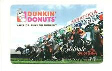Dunkin' Donuts Saratoga Horse Racing Gift Card No $ Value Collectible 2013