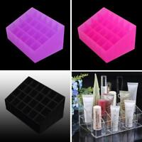 24 Lipstick Makeup Stand Display Trapezoid Holder Case Cosmetic Organizer MA