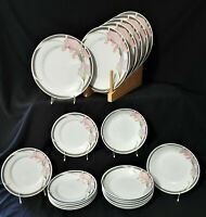 SILVERIE 19 pc Dinnerware Set SWEET IRIS dinner salad plate soup bowl FINE CHINA