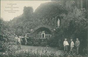 Ansichtskarte Lourdesgrotte im Krankenhausgarten ... Dortmund  (Nr.9410)
