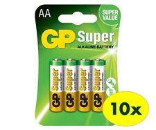 40x AA GP SUPER Alkaline Batteries 15A LR6 SIZE AA 1.5V(10packs/40pcs)