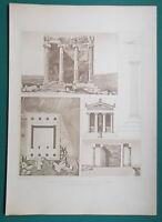 ATHENS ACROPOLIS Temple Nike Apteros Restored View & Ruins - 1905 d'Espouy Print