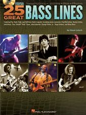 25 Great Bass Lines Learn to Play Present Bass Guitar SHEET MUSIC BOOK