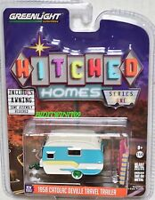 GREENLIGHT 1958 CATOLAC DEVILLE TRAVEL TRAILER GREEN MACHINE HITCHED HOMES W+