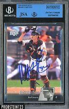 2010 Upper Deck #84 Matt Wieters Baltimore Orioles Signed AUTO JSA/BGS Authentic