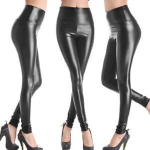 LEGGINGS VINYLE NOIR PANTALON SEXY 40 L DANCE LEGGING SIMILI CUIR