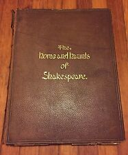 """The Home and Haunts of Shakespeare"" W/ Water Colors Photographs 1891 ULTRA RARE"