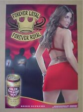 """Olde English 800 """"Forever Loyal - Forever Royal"""" Tattoo ink Sexy Girl poster Nos"""
