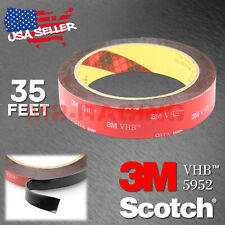 Genuine 3M VHB #5952 Double-Sided Mounting Foam Tape Automotive Car 20mm x 35FT