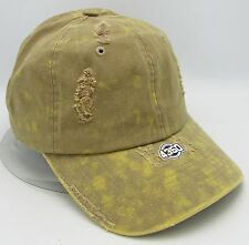Yellow Unconstructed Color Dyed Distressed Cap Dad Painter Hat Adjustable NWT