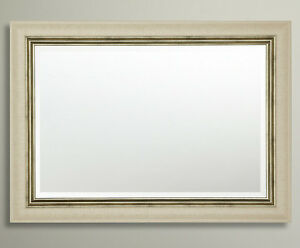 John Lewis Orabelle Wall Mirror Ivory Gilt Champagne Frame 92x76cm Bevelled