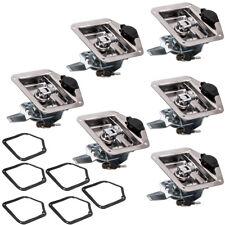 6x bentup Tongue Folding T-Handle Locks Caravan Toolbox Door Trailer 4x4, Ute