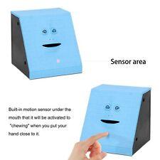 Facebank Face Bank Sensor Coin Eating Saving Money Box Child Kids Gift Blue Colo