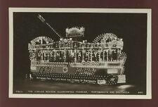 Hampshire Hants PORTSMOUTH Decorated tram King G5 Jubilee Review RP PPC by Mills