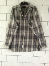 Urban Vintage Retro Manga Larga U.s Polo Assn Comprobar Camisa Informal Lumber Jack