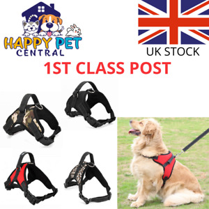 No Pull Dog Pet Harness Strong Adjustable Reflective Padded Puppy Safety Vest UK