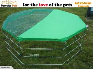 8 Panel Pet Dog Playpen Exercise Cage Puppy Crate Enclosure Cat Rabbit withcover